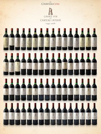 Collection Chateau Latour 1945 - 2008