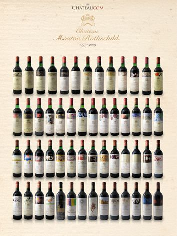 Collection Chateau Mouton Rothschild 1957 - 2009