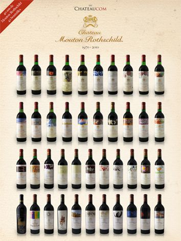Collection Chateau Mouton Rothschild 1970 - 2010