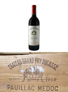 Château Grand-Puy Ducasse 1989 Original wooden case of 12 bottles (12x75cl)