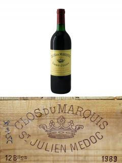 Clos du Marquis 1989 Original wooden case of 12 bottles (12x75cl)