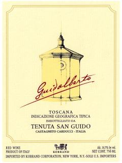 Tenuta San Guido Guidalberto 2012 Original wooden case of 1 bottle (1x75cl)