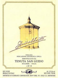 Tenuta San Guido Guidalberto 1996 Bottle (75cl)