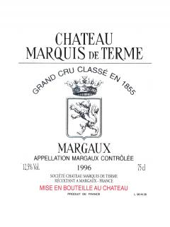 Château Marquis de Terme 2014 Original wooden case of 12 half bottles (12x37.5cl)