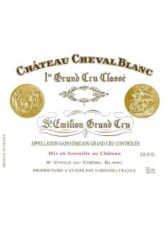 Château Cheval Blanc 2015 Original wooden case of 6 bottles (6x75cl)