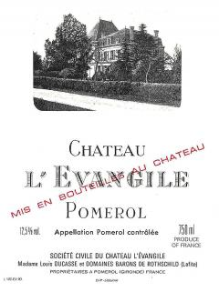 Château l'Evangile 2007 Original wooden case of 12 bottles (12x75cl)