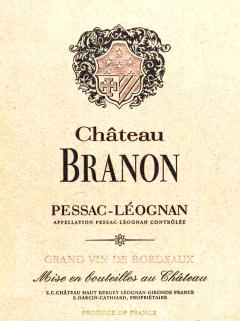 Château Branon 2008 <br /><span>Original wooden case of 6 bottles (6x75cl)</span>