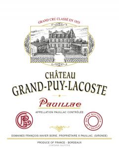 Château Grand-Puy-Lacoste 2012 Original wooden case of 12 bottles (12x75cl)