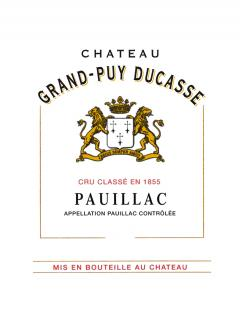 Château Grand-Puy Ducasse 2012 Original wooden case of 12 bottles (12x75cl)