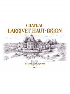 Château Larrivet Haut-brion 2012 Original wooden case of 12 bottles (12x75cl)