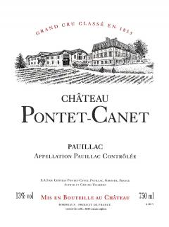 Château Pontet-Canet 2011 Original wooden case of 12 bottles (12x75cl)