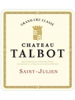Château Talbot 2014 Original wooden case of 6 half bottles (6x37.5cl)