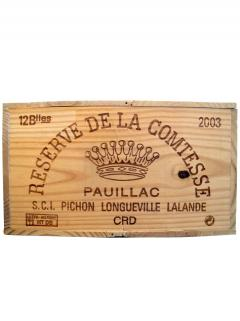 La Réserve de la Comtesse 2003 Original wooden case of 12 bottles (12x75cl)