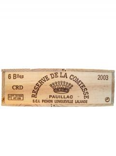 La Réserve de la Comtesse 2003 Original wooden case of 6 bottles (6x75cl)
