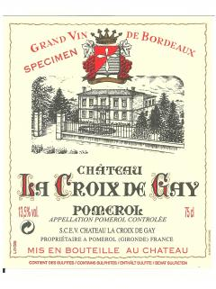Château La Croix de Gay 2012 Original wooden case of 1 bottle (1x75cl)