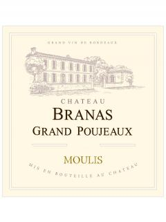Château Branas Grand Poujeaux 2012 Original wooden case of 6 bottles (6x75cl)