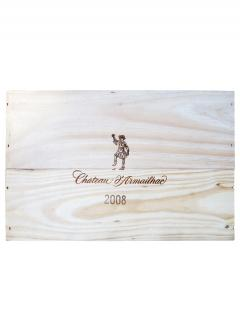 Château d'Armailhac 2008 Original wooden case of 6 bottles (6x75cl)