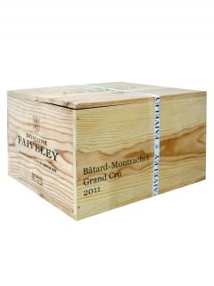 Batard-Montrachet Grand Cru Domaine Faiveley 2011 Original wooden case of 6 bottles (6x75cl)