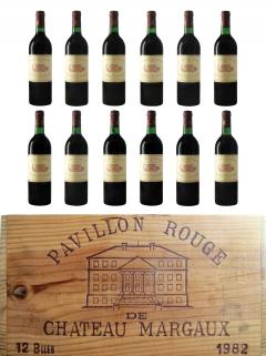 Pavillon Rouge du Château Margaux 1982 Original wooden case of 12 bottles (12x75cl)